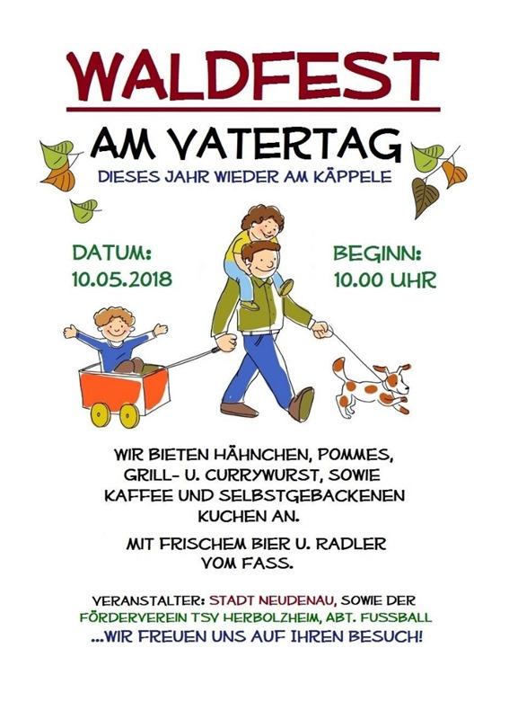 Plakat Waldfest 2018 - TSV Herbolzheim