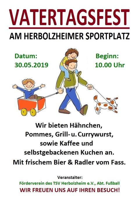 Vatertagsfest 2019 - Plakat